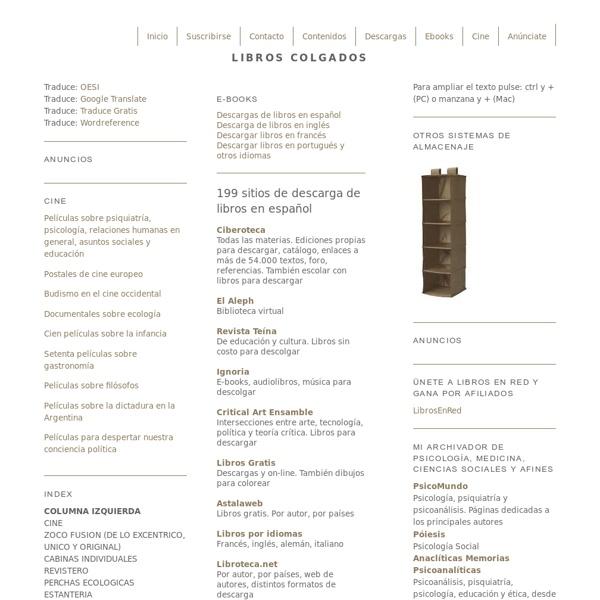 199 sitios de descarga de libros en español