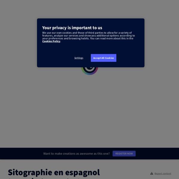 Sitographie en espagnol (Académie de Nice) by mg.marialuisa7 on Genially