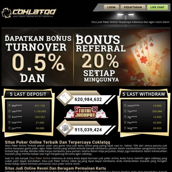 Situs Poker Online, Judi Online, Agen Dominoqq - Coklatqq