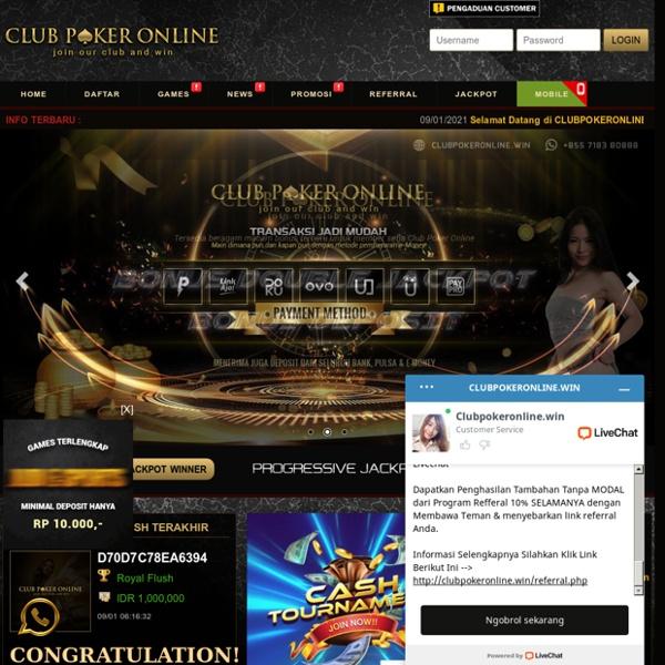 Situs Idn Poker Online & Agen Judi Poker Terpercaya