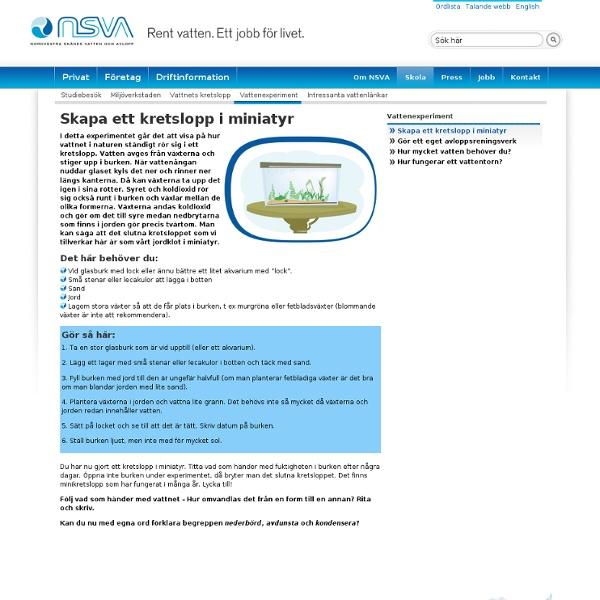 Skapa ett kretslopp i miniatyr - NSVA