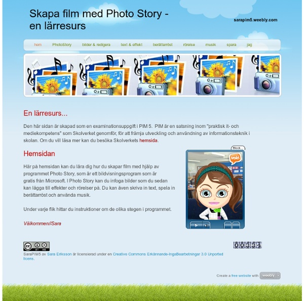 Skapa film med Photo Story - en lärresurs - hem