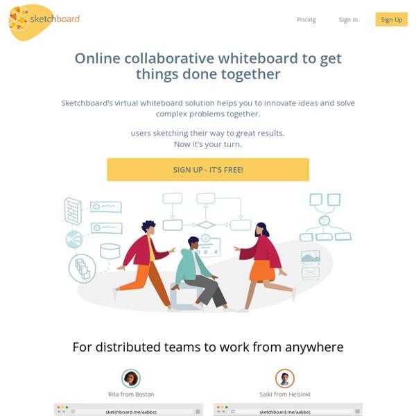 Sketchboard.io - Visual Remote Teamwork