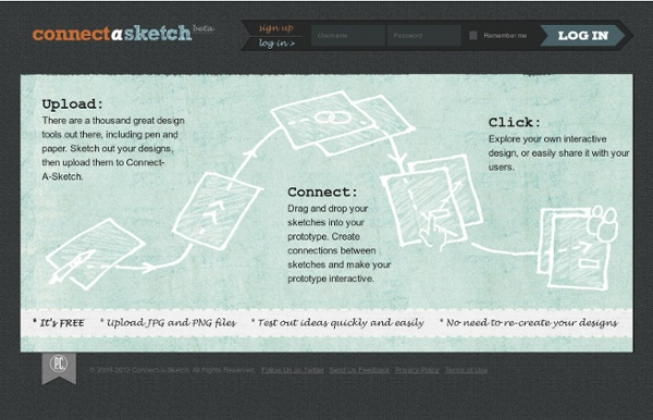 Connect-A-Sketch - Upload and connect your sketches to create clickable prototypes