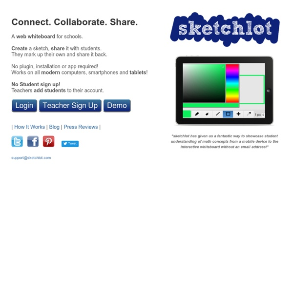 Sketchlot - Create a sketch, share it with students