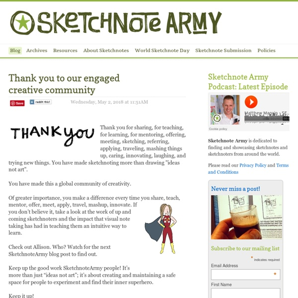 Sketchnote Army - A Showcase of Sketchnotes