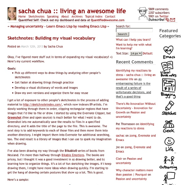 Sketchnotes: Building my visual vocabulary