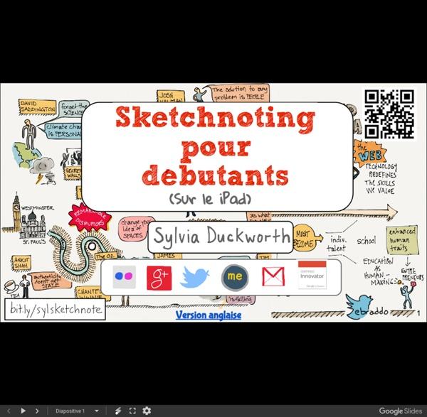 Sketchnoting pour débutants - GoogleSlides
