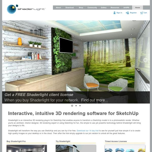 ArtVPS - Shaderlight for SketchUp 3D Rendering Technology
