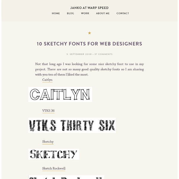 10 sketchy fonts for web designers