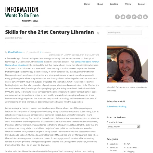 Skills for the 21st Century Librarian