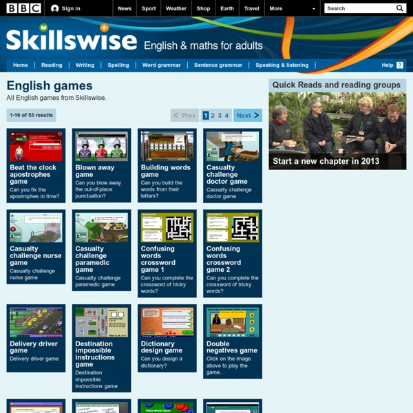 Skillswise - English Games
