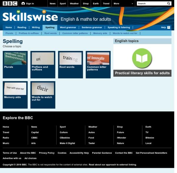 Skillswise - Spelling