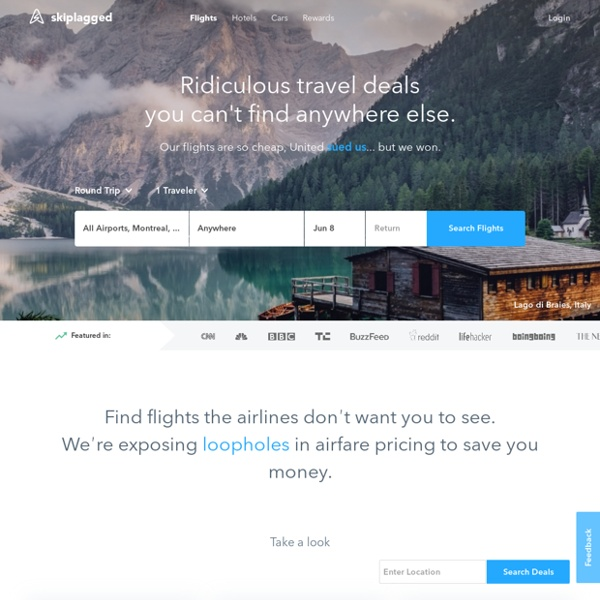Skiplagged: The smart way to find cheap flights.