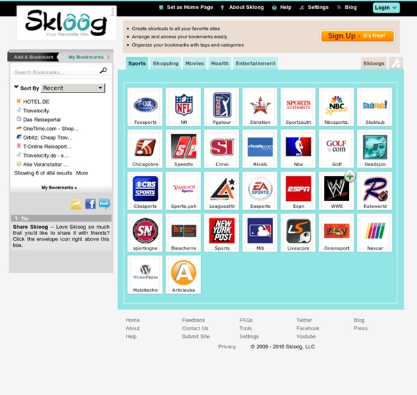 Skloog.com - Visual bookmarking made easy