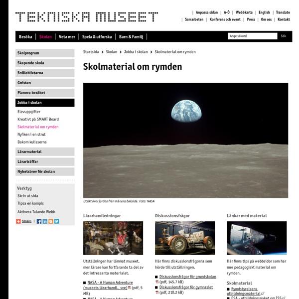 Skolmaterial om rymden - Tekniska museet
