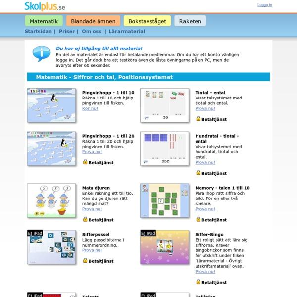 Digitala läromedel för grundskolan