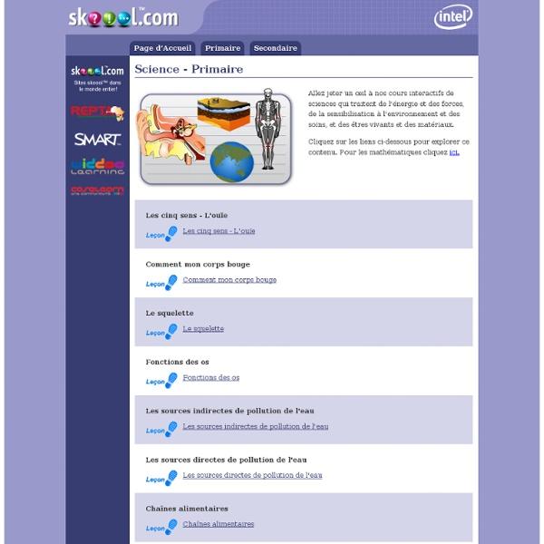 Skool - Leçons interactives - Sciences