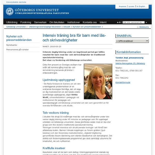 Intensiv träning bra för barn med läs- och skrivsvårigheter - Göteborgs universitet