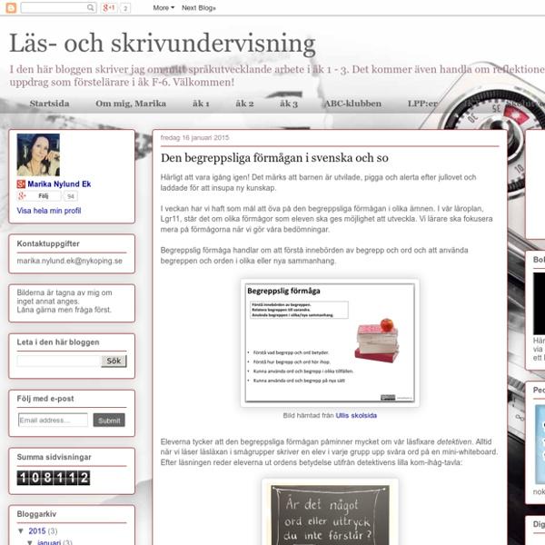 Den begreppsliga förmågan i svenska och so