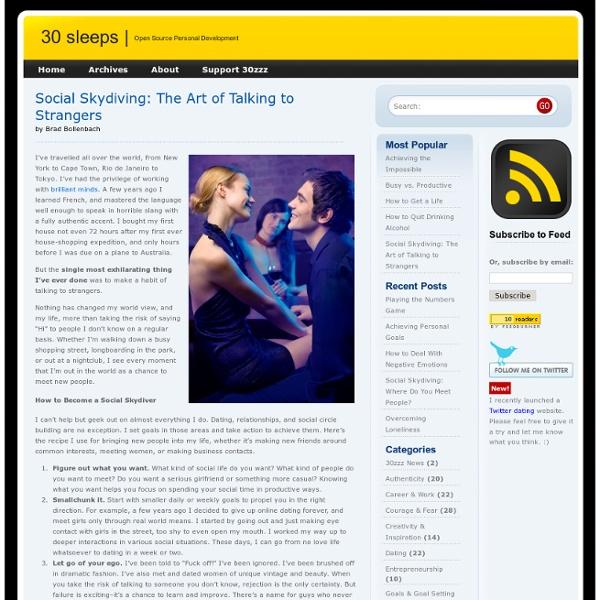 Social Skydiving: The Art of Talking to Strangers