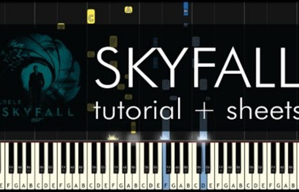 """How to Play """"Skyfall"""" by Adele - Piano Tutorial and Sheet Music"""