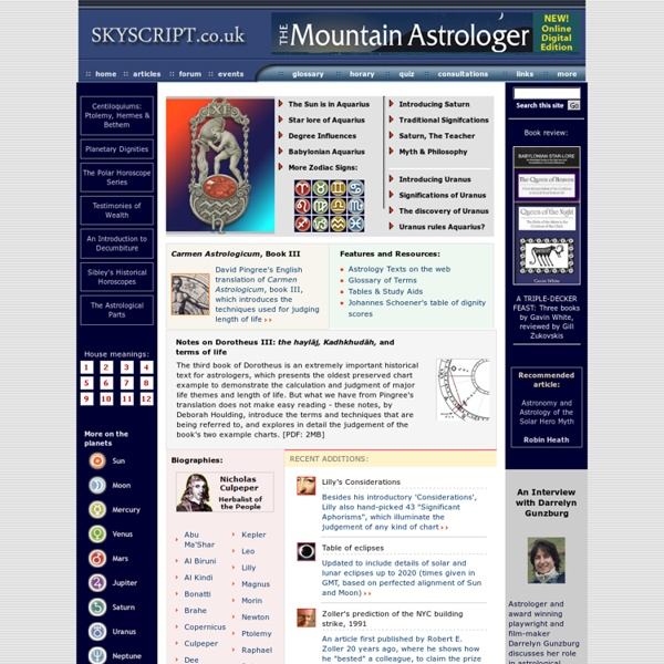 Deborah Houlding's Astrology Pages