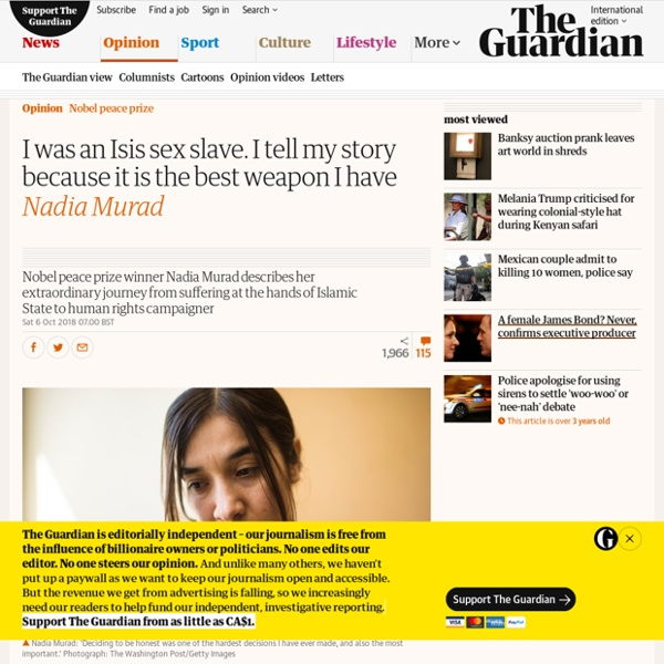 I was an Isis sex slave. I tell my story because it is the best weapon I have