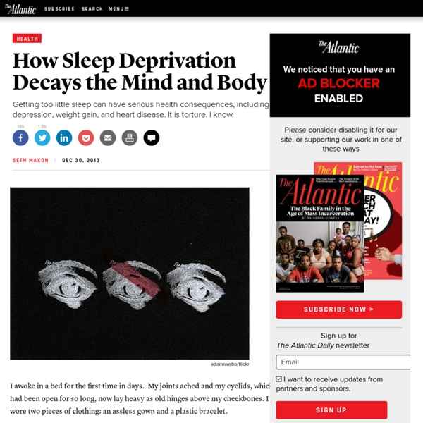 How Sleep Deprivation Decays the Mind and Body - Seth Maxon