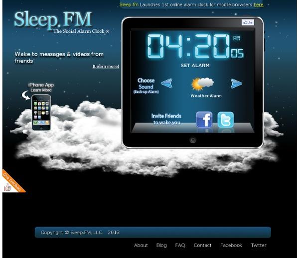 Sleep.FM - The Social Alarm Clock
