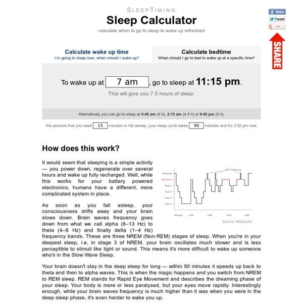 SleepTiming: Sleep Calculator