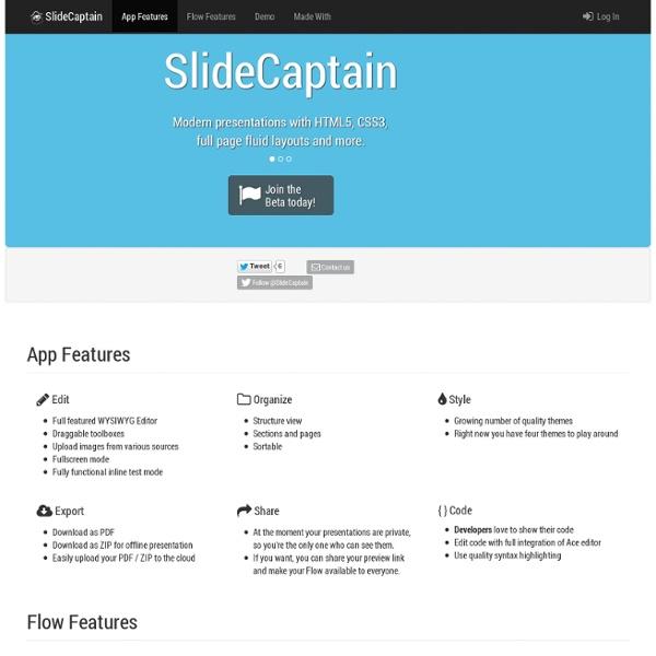 Modern online presentation tool - SlideCaptain