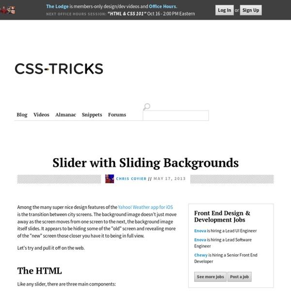 Slider with Sliding Backgrounds