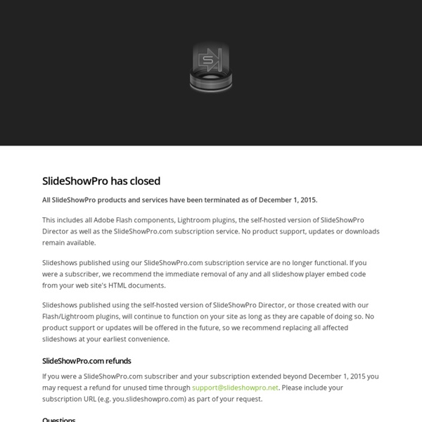 SlideShowPro: Slideshow publishing tools for your web site