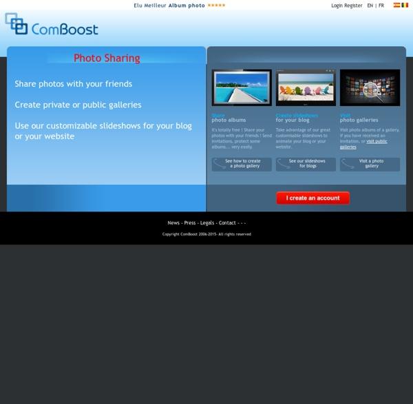 ComBoost - Création d'album photo et de livre photo, avec labo de développement photo élu meilleur album photo