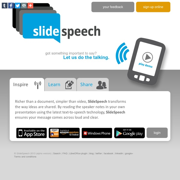 SlideSpeech, presentations with voice