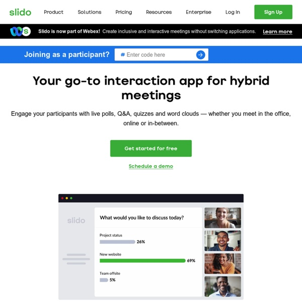 Sli.do - give a voice to your audience