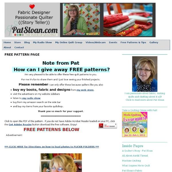 Pat Sloan's Free Pattern Page