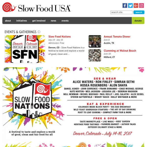 Welcome! : Slow Food USA