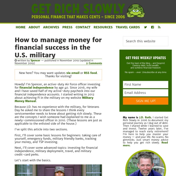 Get Rich Slowly - Personal Finance That Makes Cents