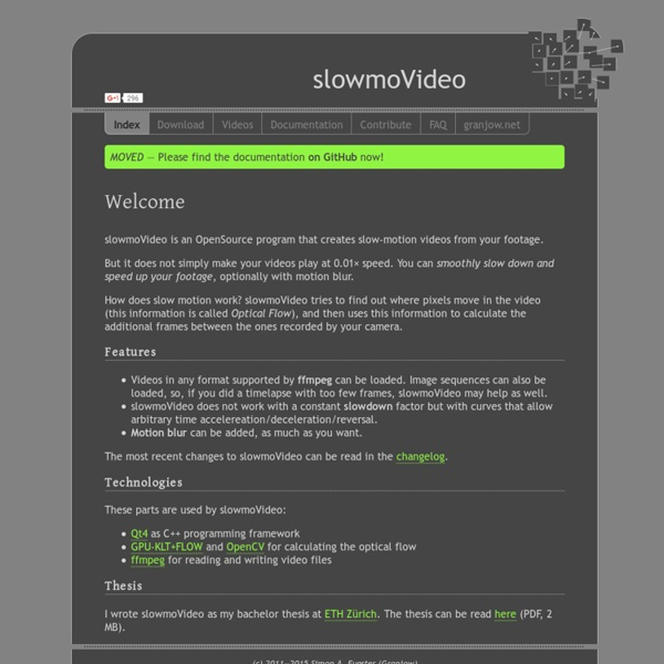 SlowmoVideo.granjow.net
