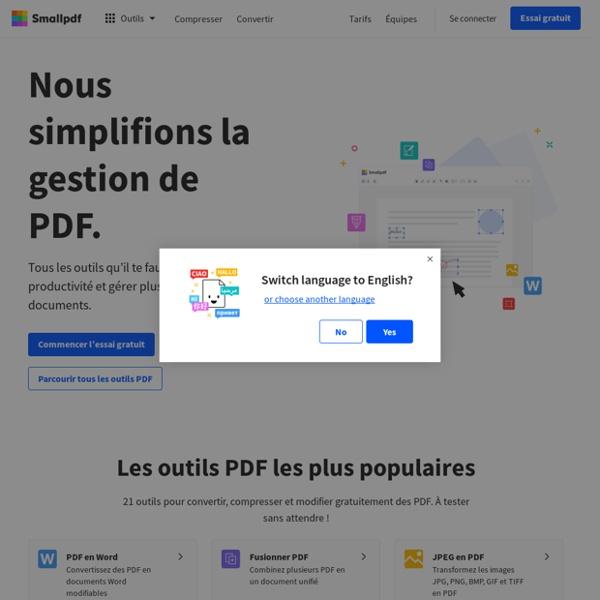 Smallpdf.com - La Solution Gratuite pour tous vos PDFs