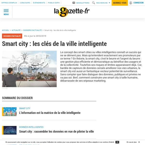 Smart city : les clés de la ville intelligente