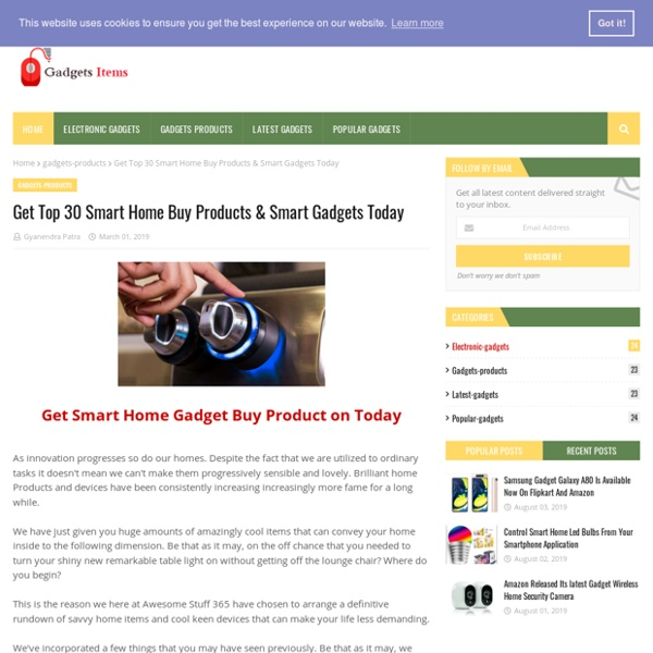 Get Top 30 Smart Home Buy Products & Smart Gadgets Today