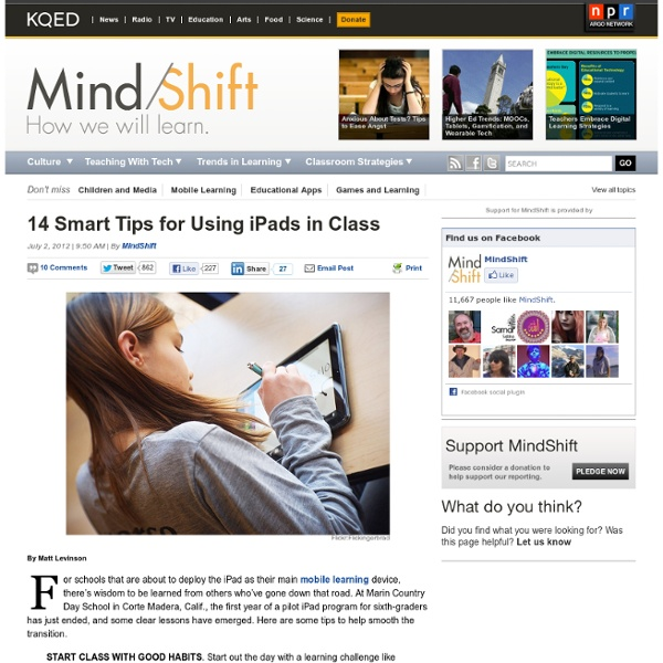 14 Smart Tips for Using iPads in Class