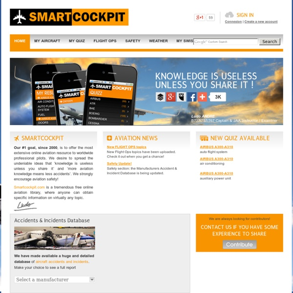 SmartCockpit - Airline training guides, Aviation, Operations, Safety