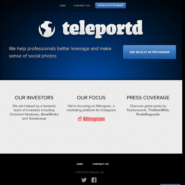 Teleportd - Live Photos from the Smartphone Generation