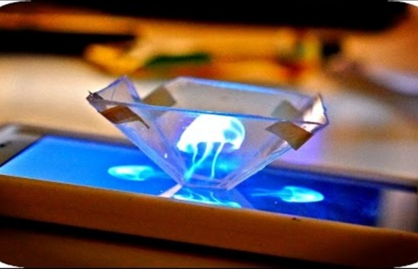 Turn your Smartphone into a 3D Hologram