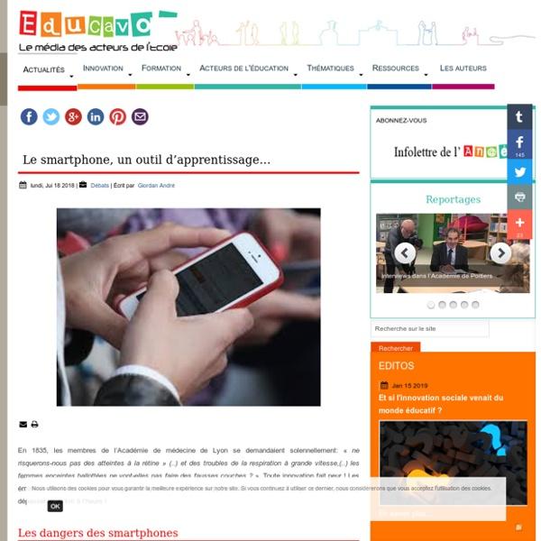 Le smartphone, un outil d'apprentissage…