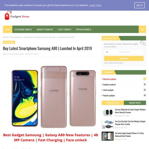 Buy Latest Smartphone Samsung A80